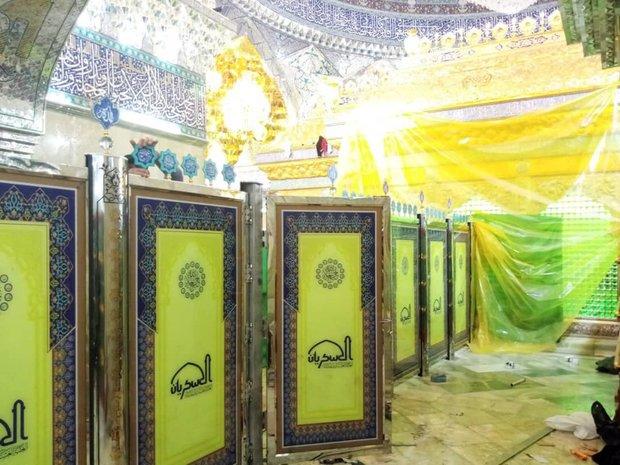 قاطعهای حرم مطهر امامین عسکریین علیهم السلام نصب شد