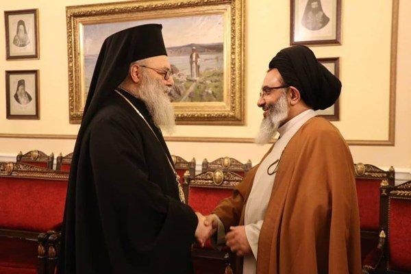 ممثل قائد الثورة في سوريا يلتقي البطريرك اليازجي