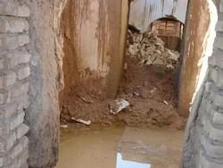 بقعه تاریخی ادریس نبی در دزفول براثر بارندگی فروریخت