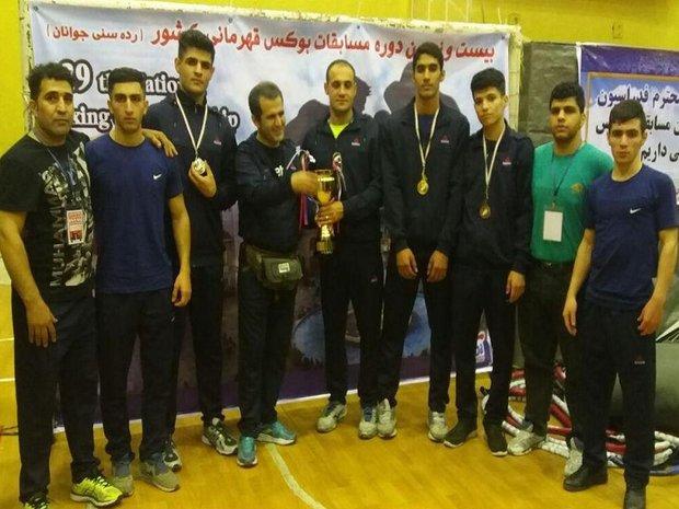 نایب قهرمانی بوکسورهای کردستانی در رقابت های قهرمانی جوانان کشور