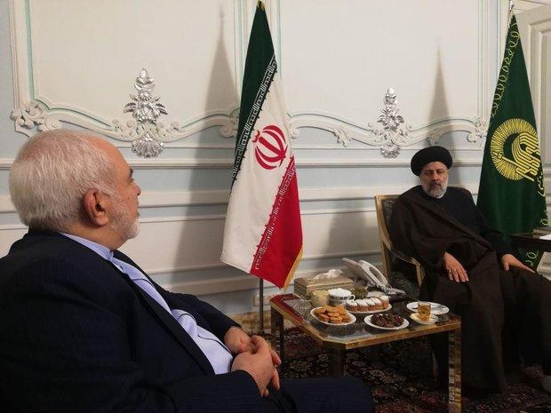 ایرانی وزير خارجہ کی حرم رضوی کے متولی سے ملاقات