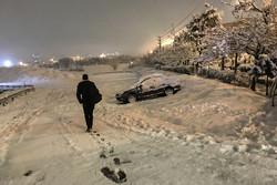 کاهش دما و بارش برف در البرز/احتمال آبگرفتگی معابر