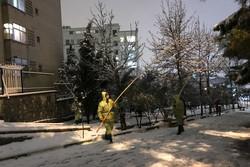 اولین برف زمستانی تهران