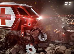 طرح اولیه خودروی الکتریکی با ۴ پای رباتیک رونمایی می شود