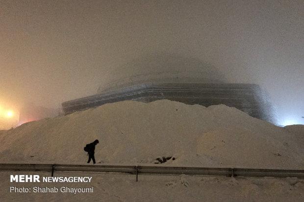 First winter snow blankets Tehran