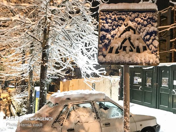 Tahran'dan kar manzaraları