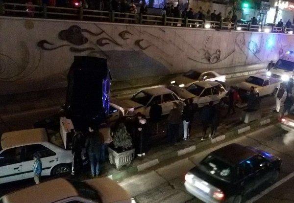 تصادف زنجیره ای در تبریز/ ۷ نفر مصدوم شدند