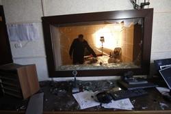 حمله به دفتر رادیو و تلویزیون فلسطین در غزه