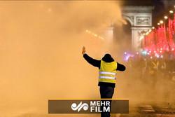 استمرار احتجاجات أصحاب السترات الصفراء بباريس