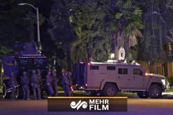 آخرین تصاویر از حمله مسلحانه دقایقی پیش در لس آنجلس