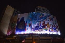 رونمایی از جدیدترین دیوارنگاره میدان ولیعصر با موضوع جوانان