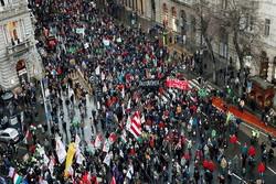 تظاهرات ضد دولتی در مجارستان کلید خورد