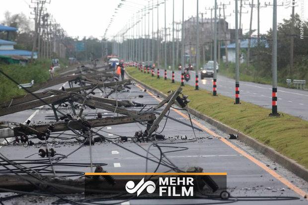 طوفان، ساکنان چندین روستا در تایلند را مجبور به تخلیه کرد