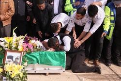 تشییع پیکر شهید خدمت اورژانس حمید احمدی