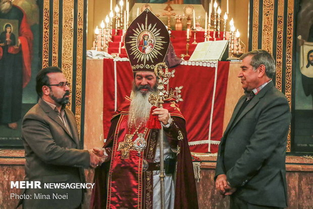 Celebrating Jesus Christ's birthday in Saint Mary Church of Tabriz