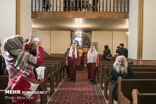 Celebrating Jesus Christ's birthday in Saint Mary Church of Tabriz