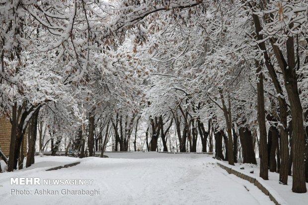 """هطول الثلج بمدينة """"زنجان"""""""