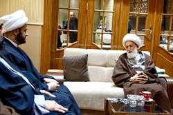 أكرم الكعبي يلتقي زعيم الشيعة في البحرين