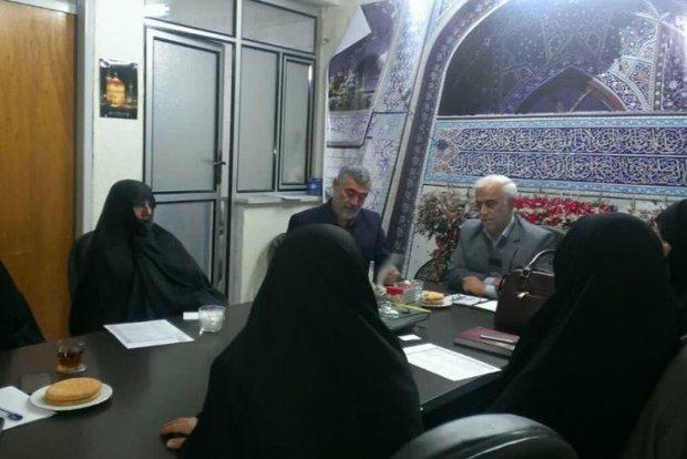 تقویت همکاری جمعیت بانوان فرهیخته استان سمنان و دفتر آستان قدس