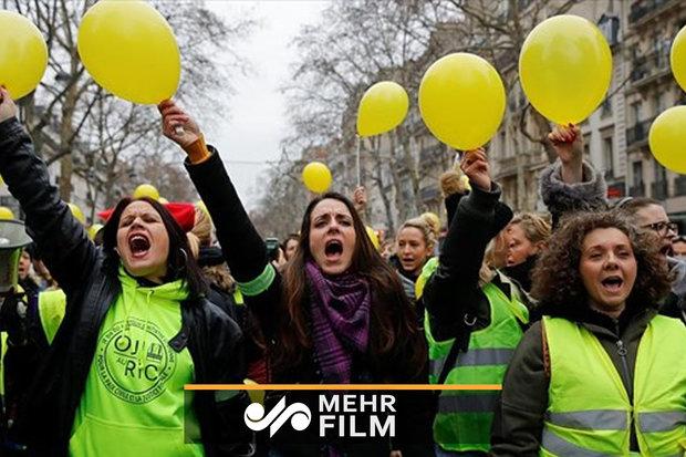 فلم/ فرانس میں پیلا جیکٹ پہن کر عورتیں بھی میدان میں آگئیں