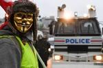 آغاز اعتراضات پانزدهمین شنبه سیاه در فرانسه