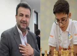 تقدیر استاندار از نوجوان شطرنج باز قائمشهری