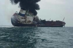 نفتکش ها هنوز در حال سوختن هستند