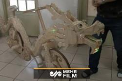 ساخت دوچرخهای با ۲۲۰۰۰ چوب بستنی!