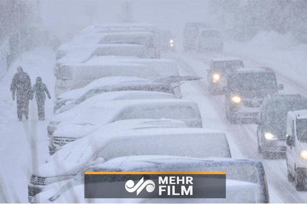 برف و طوفان به امریکا رسید