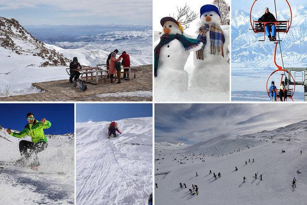 جاذبههای گردشگری زمستانه سرزمین آفتاب/ سفر از کویر تا پیست اسکی