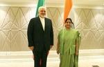 ظریف کی ہندوستانی وزير خارجہ سے ملاقات