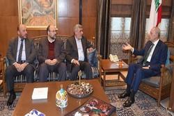 دیدار هیأتی از جنبش حماس با رئیس پارلمان لبنان