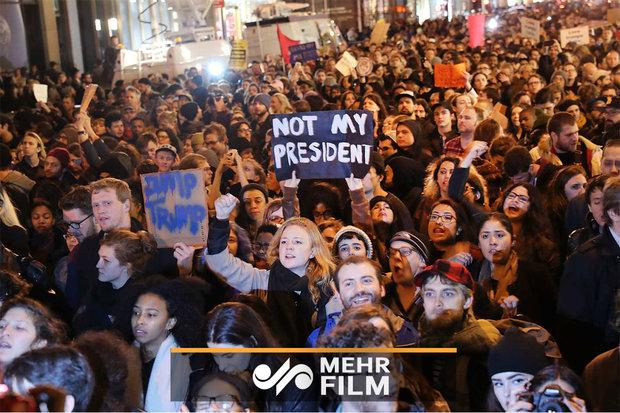 Washington'da Trump karşıtı protesto