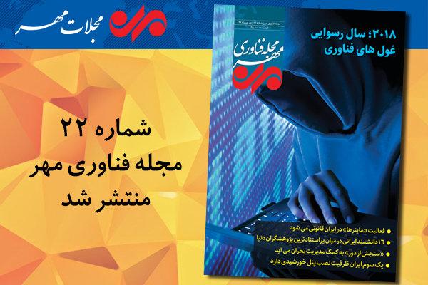 بیست و دومین شماره مجله فناوری مهر منتشر شد