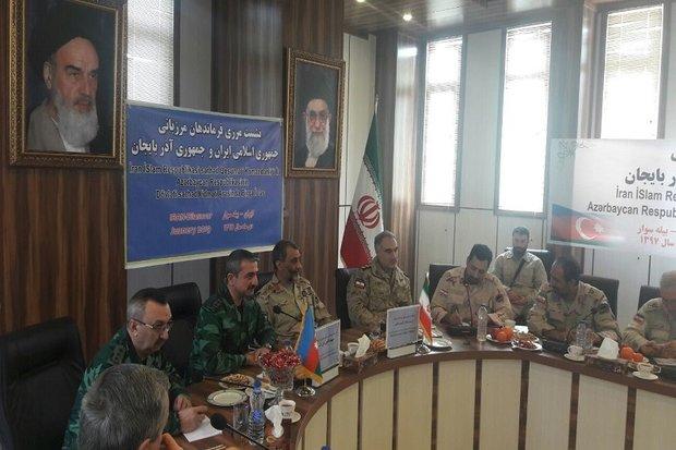 دست دوستی ، صلح و امنیت پایدار فرماندهان مرزبانی ایران و آذربایجان