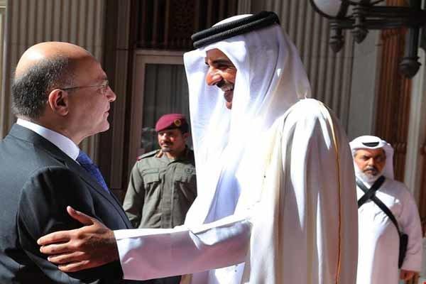 Katar Emiri, Irak Cumhurbaşkanı'nı karşıladı