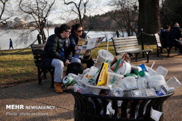 عدم جمع آوری زباله ها در پارک های ملی آمریکا