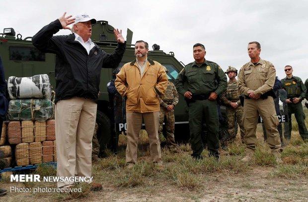 سفر ترامپ به مرز آمریکا و مکزیک