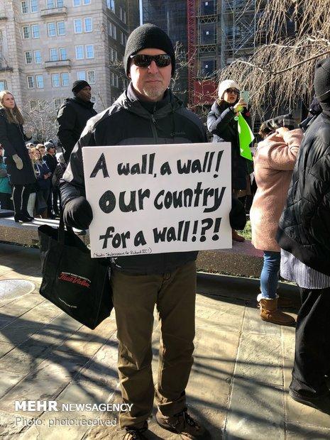 تظاهرات علیه تعطیلی دولت آمریکا