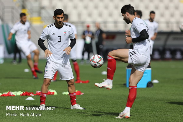 Iran's last training session before facing Vietnam