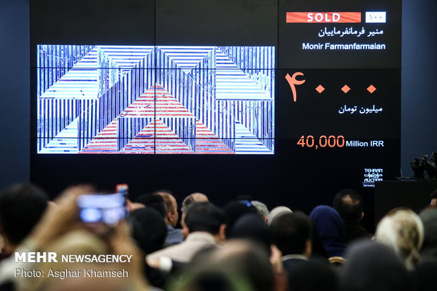 96-year-old female artist sets record high at 10th Tehran Auction