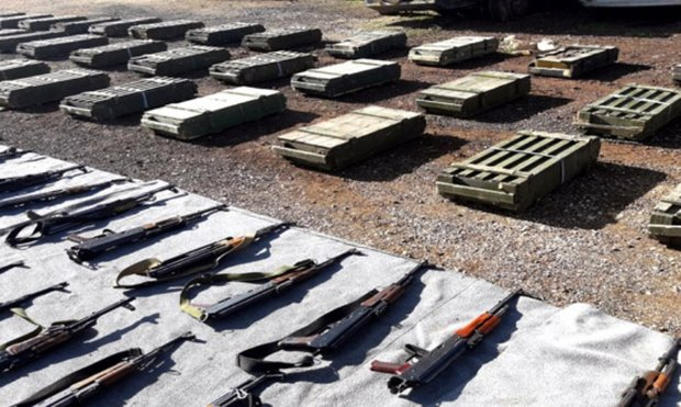 Weapons, ammo left behind by terrorists found in Damascus, Quneitra