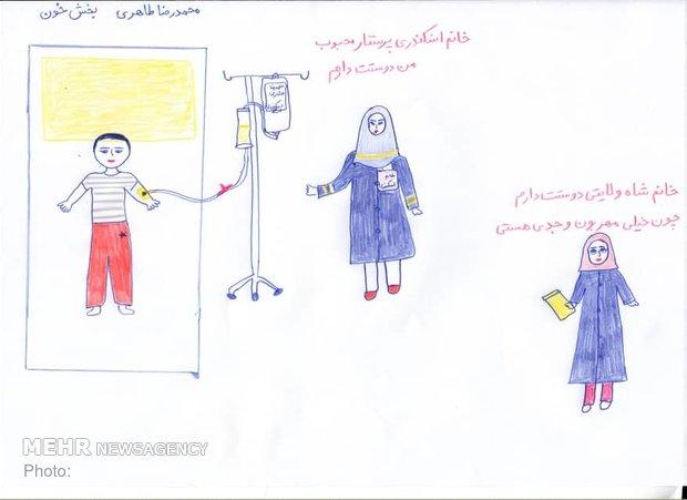 رسومات معبرة خلقت في المشفى