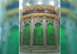 نیمضریح خیمهگاه حضرت زینب (س) در کربلای معلی نصب شد