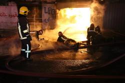 حضور ۵۰ آتشنشان در عملیات اطفاء حریق یک مرکز گاز مایع در قم