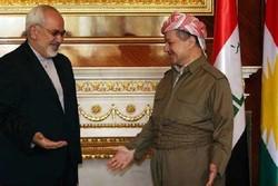 """Zarif, Kürt yetkililerle """"ekonomik ilişkileri"""" görüşecek"""