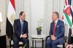 رایزنی رئیس جمهور مصر و شاه اردن در امان
