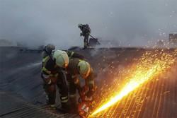یک آتش نشان در حادثه آتش سوزی یکشنبه جاده خاوران شهید شد