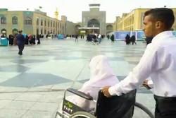 ازدواج زوج زیارت اولی کرمانی در حرم امام رضا(ع)