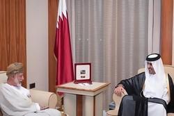 وزیرخارجه عمان با امیر قطر دیدار کرد